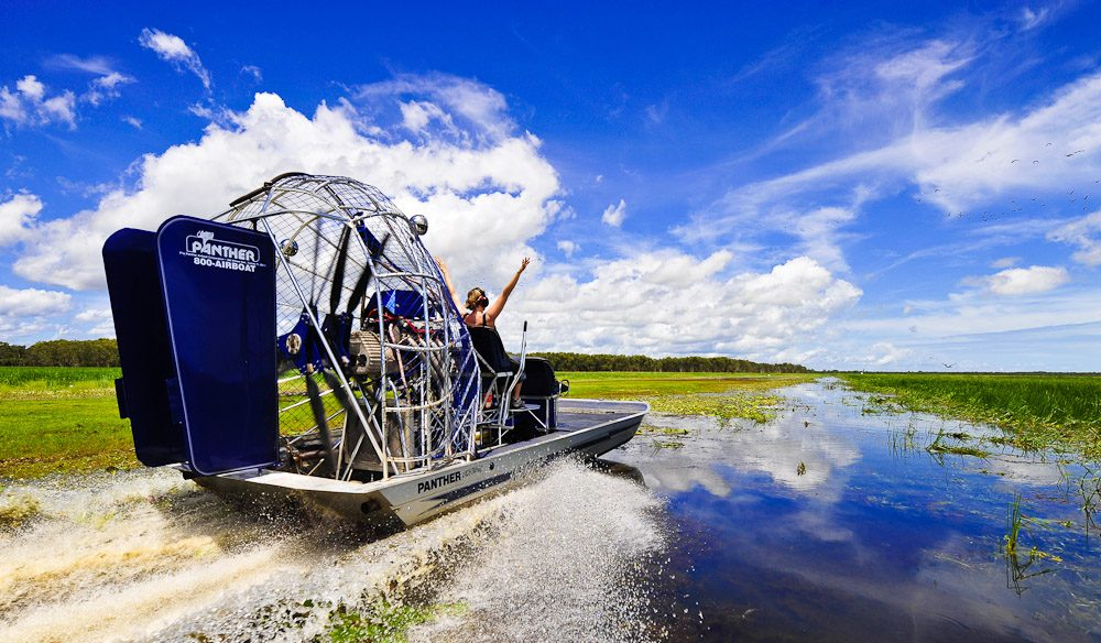 Airboating on Kakadu floodplains