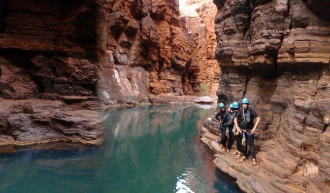 Abseiling in Karijini National Park