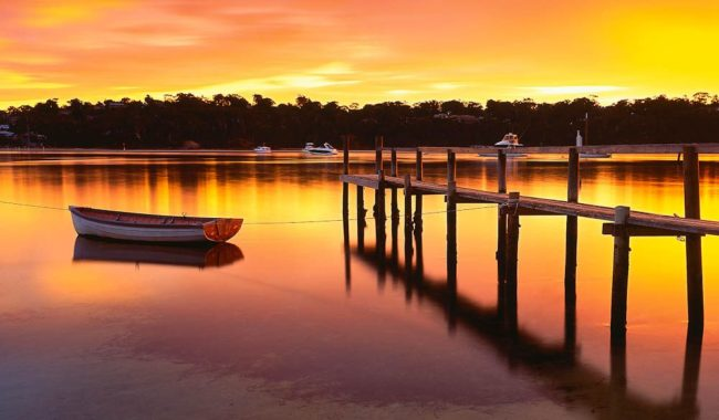 042 Merimbula Lake sunrise, NSW