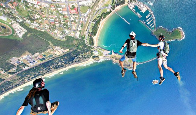 """Breathtaking coastal views from above the Solitary Islands Marine park with the Great Dividing Range as a backdrop"" - Lawrence Hill, Coffs City Skydives"