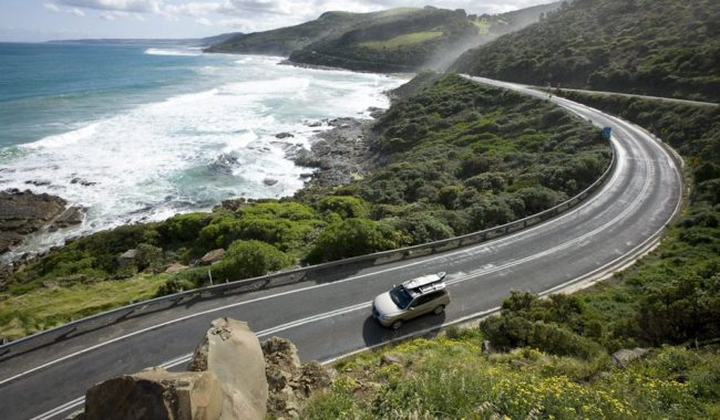 The Great Ocean Road at Great Otway National Park