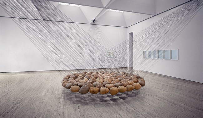 Ken Unsworth's hugely popular Suspended Stone Circle. Image by Art Gallery of NSW.