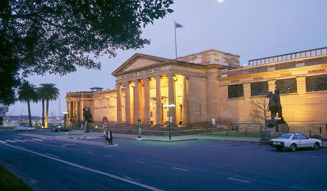 The Art Gallery of NSW, nestled between the grasslands of The Domain and the towering Sydney CBD. Image by Art Gallery of NSW.