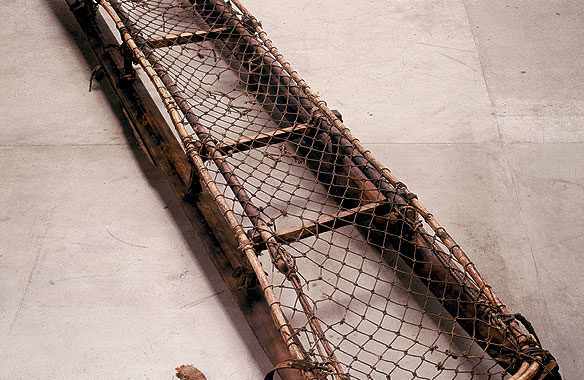 Borchgrevink's Sled from the permanent Islands to Ice exhibition. Image by Collection Tas Museum and Art Gallery.