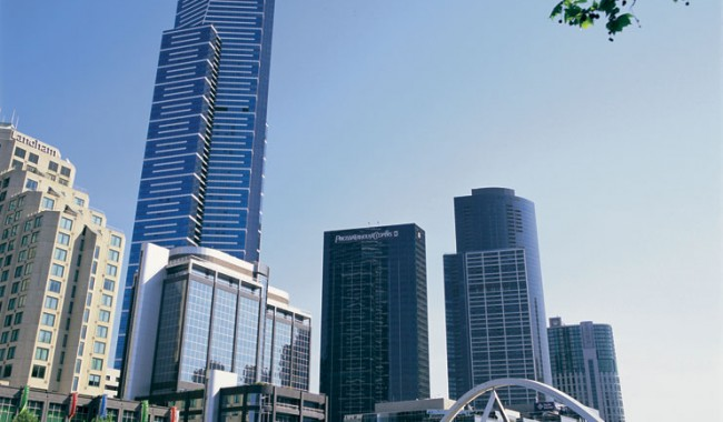 Fight for the highest residential view, Eureka Tower in Melbourne. Image by Tourism Victoria