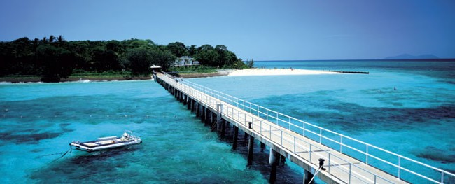 Green Island is a 12ha rainforested coral cay 45min by fast cat from Cairns. Image by Tourism Qld