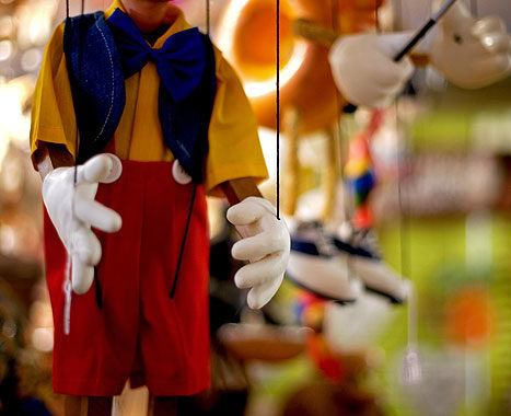 Pinocchio hanging out at The Puppet Shop -- image courtesy of Cameron Blair