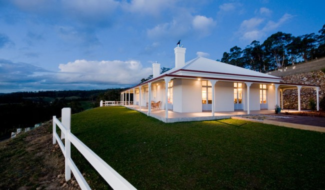 A classic pastoral homestead set amid restful rolling hills, orchards and fields of cattle.