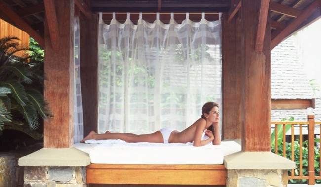 An outdoor massage at Villa Empat Puluh Dua in Port Douglas. Image by Villa Empat Puluh Dua