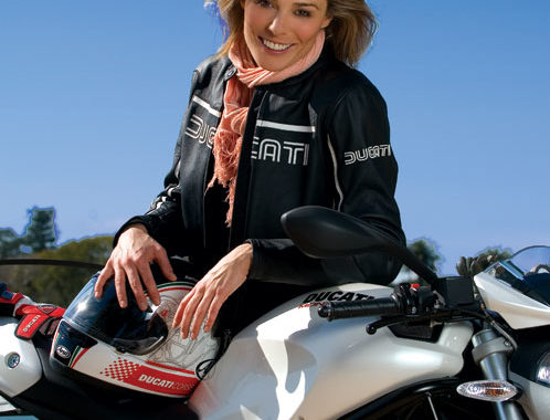 Zoe Naylor has taken her first tottering steps in a lifelong love affair with a motorcycle.