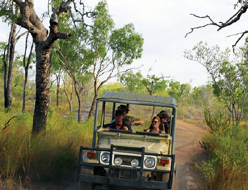 Trekking to Mount Borradaile with Davidson's Arnhemland Safaris.