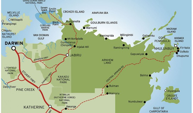 Detailed Map of Arnhem Land