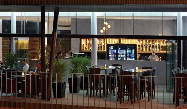 The ground floor Gazebo Bar & Restaurant at Urban Brisbane.