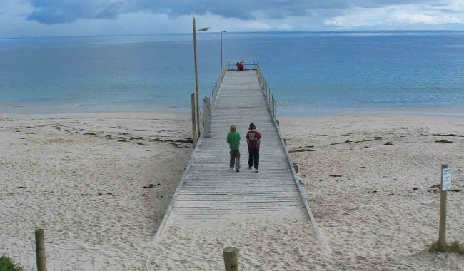 Normanville jetty on the Fleurieu's west coast