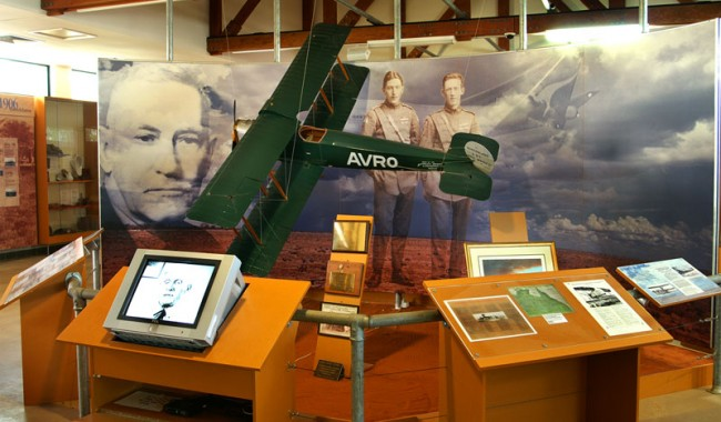 Qantilda Museum houses replica of the first QANTAS plane 'the Avro