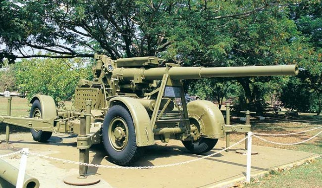 A World War II anti-aircraft gun at Darwin's first museum - the East Point Military Museum on East Point Reserve.
