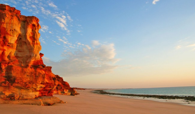 Kooljaman-cape-leveque,-western-sunset-beach