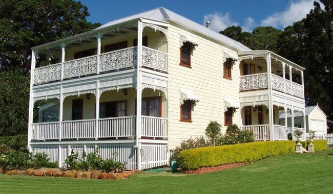 A serendipitous discovery on the Sunshine Coast, Middleton Manor is a fairy tale southern US mansion crossed with a twee English Manor