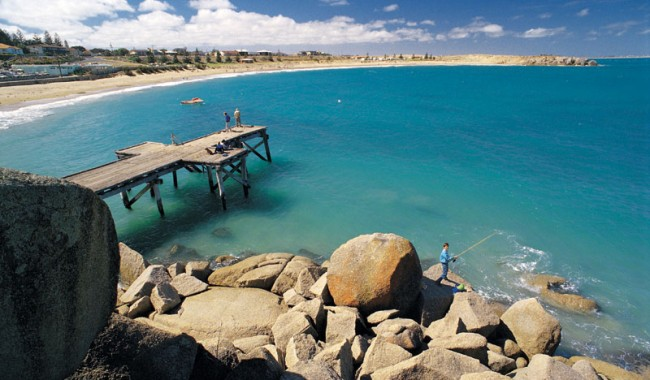 Apot for fishing from a Jetty in Port Elliot on the Fleureu Peninsula