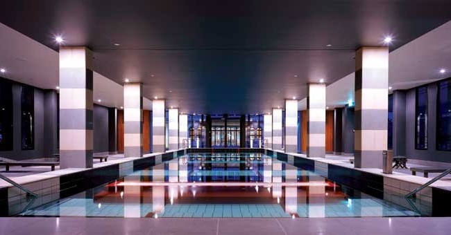 Indoor pool at the Sofitel Mansion & Spa at Werribee Park