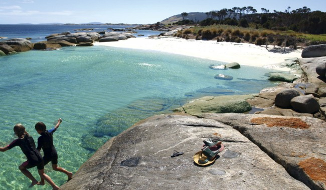 Sawyers Bay Shacks, Flinders Island, Tasmania