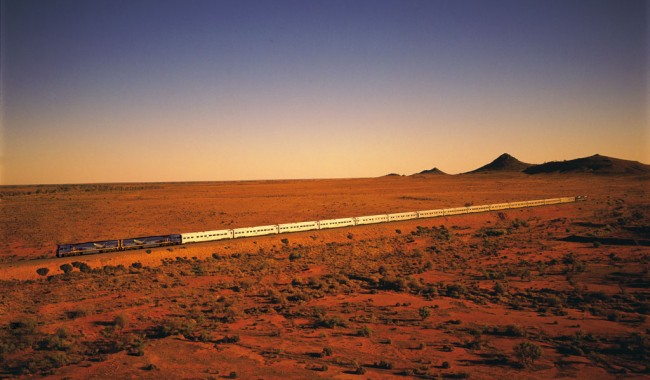 The Indian Pacific Train in the Outback