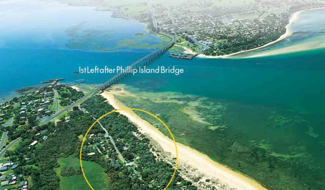 The Big4 Phillip Island Caravan Park is right on the beach