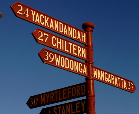 Beechworth signposts