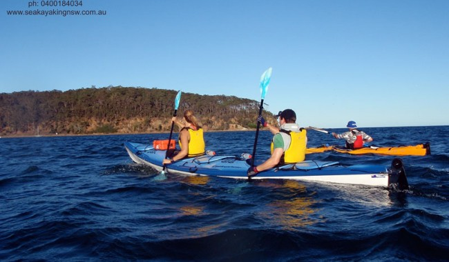 Fast approaching the Murramarang National Park shoreline. Image by Region X Kayak