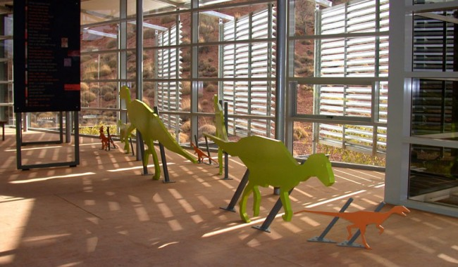 Children love these fun, life-sized dinosaur cut outs in the Foyer.