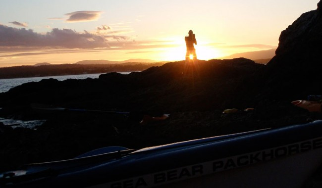 AT's Solveig Walkling shooting into the sunset. Image by Region X Kayak