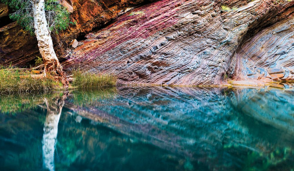 The Outback's Best-Kept Secret, Karijini. Reflections in Hamersley Gorge.