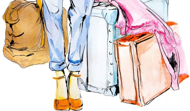 Outback packing illustration-