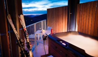 Hot tub and ice cool: The old Quay West resort in Falls Creek has been QT'd