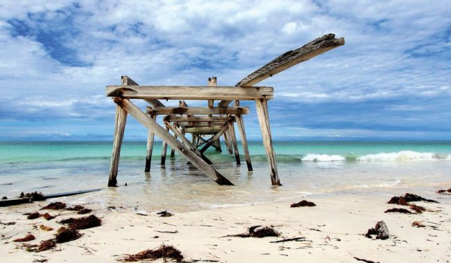 Old Wharf at Eucla, WA (By Mandy Wilson).