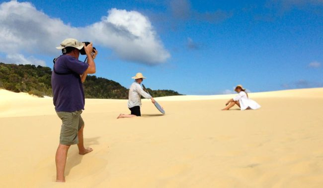 Focussing on the hard work behind the scenes of AT's Fraser Island.