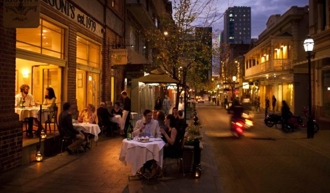 European flavours: The small bar scene is transforming Leigh Street in central Adelaide.