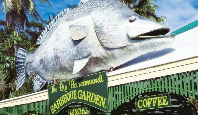 The Big Barramundi in Daintree Village - only 149 'big things' to go.