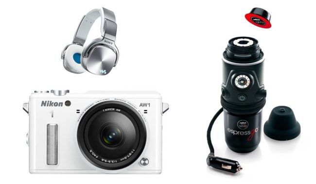 Travel gadget Christmas Wishlist: Sony three-in-one Walkman, Nikon's new waterproof camera & a mobile espresso machine.