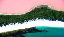 The vibrant Pink Lake (in certain weather conditions), 7km from Esperance, WA.