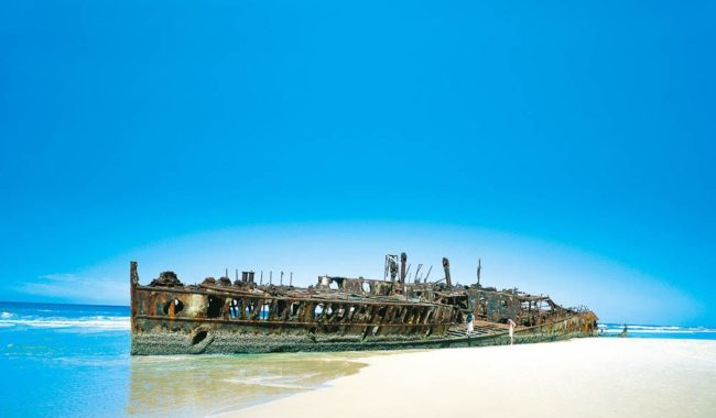 The Maheno Wreck on Fraser Island's 75 Mile Beach, Qld