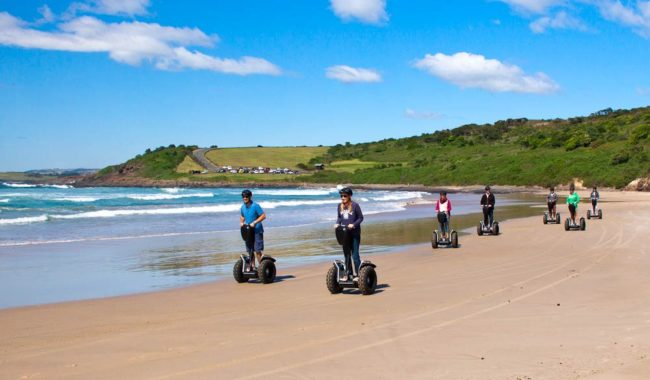 Recently introduced beach Segway tours at Killalea Beach, NSW South Coast.