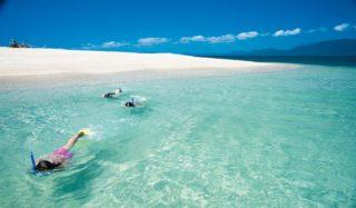 Snorkelling Frankland Islands, near Cairns.