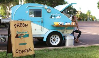 pop-up coffee Teardrop Coffee Darwin.