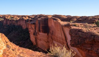 The red walls of Kings Canyon
